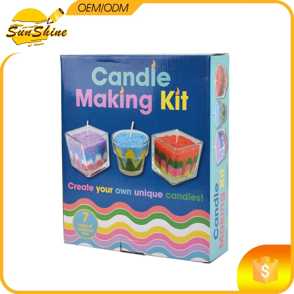 Candle making raw materials kit create your own unique for Create your own candle holder