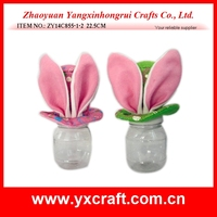 Easter decoration (ZY14C855-1-2 22.5CM) easter big bunny ear cap decoration, easter bottle decoration, easter gift
