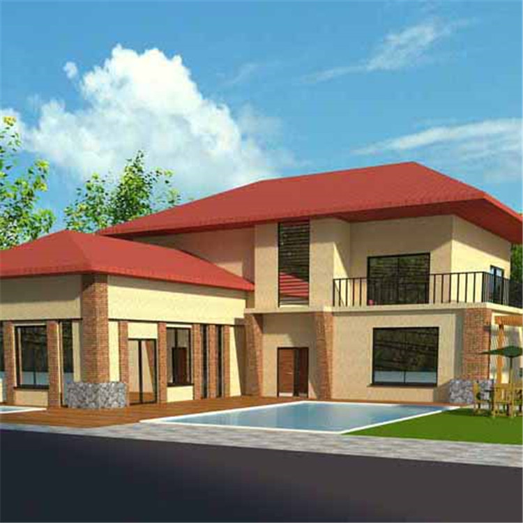 Cheap China Flat Pack Roof Prefabricated Homes Light Steel Villa House
