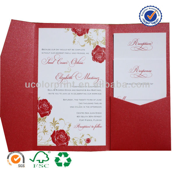 Your Design Paper Wedding Invitation Cards Made In China Buy