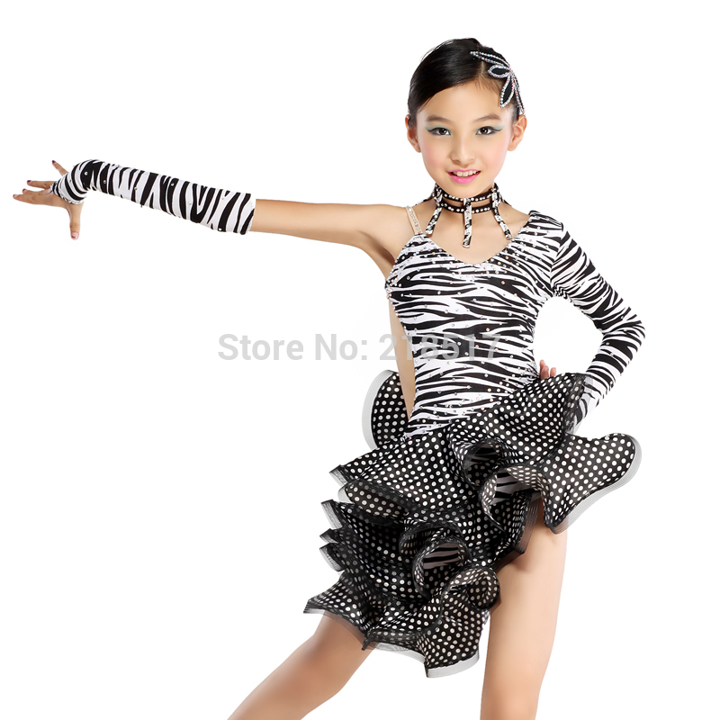 7d1523be468fa Detail Feedback Questions about Black Latin Dance Dress Girl Clothes ...