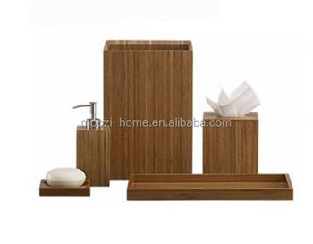 Bathroom Accessories Bamboo household/hotel bamboo bathroom accessories - buy bamboo