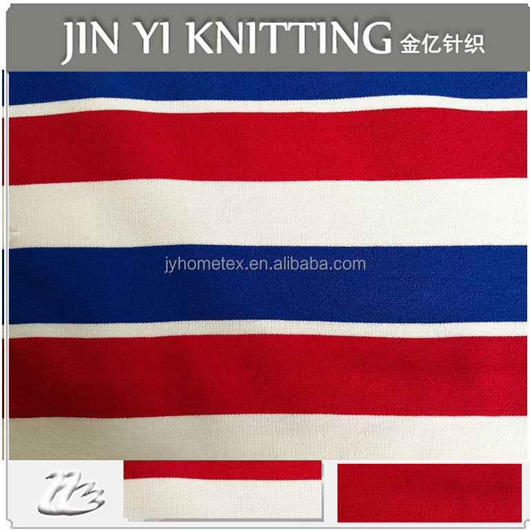 2016 hot sell Chinese factory T/R yarn dyed stripe punto knitted roma fabric