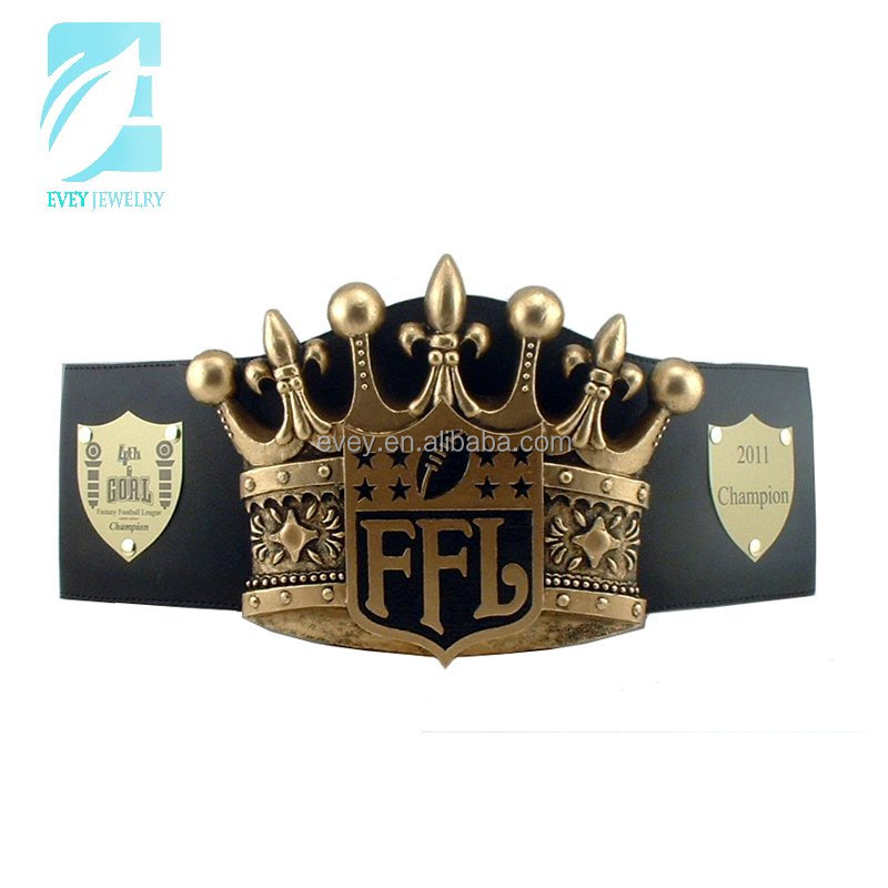 Evey custom national fantasy football championship belt