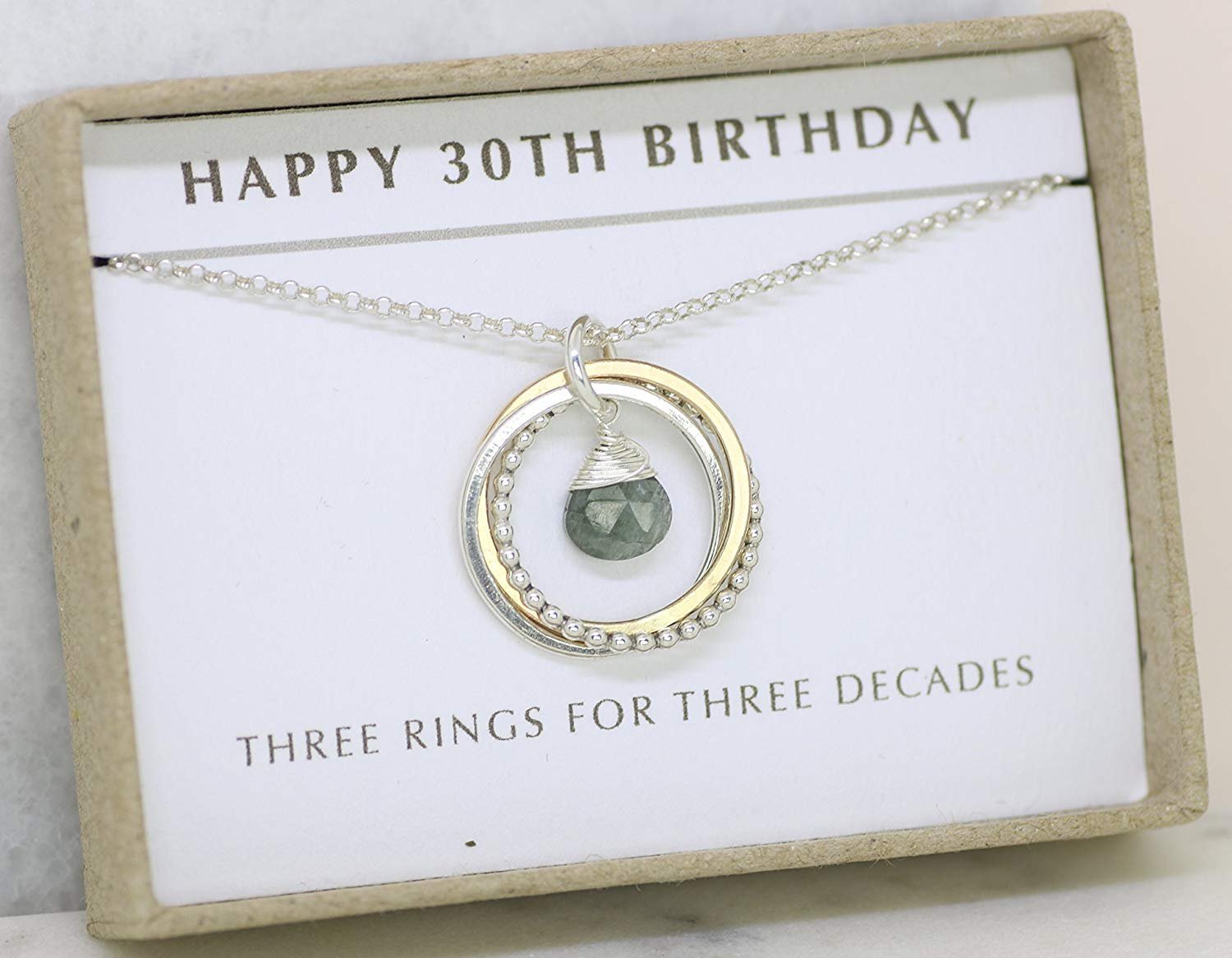 Get Quotations 30th Birthday Gift For Sister Necklace Aquamarine March Birthstone Jewelry Her