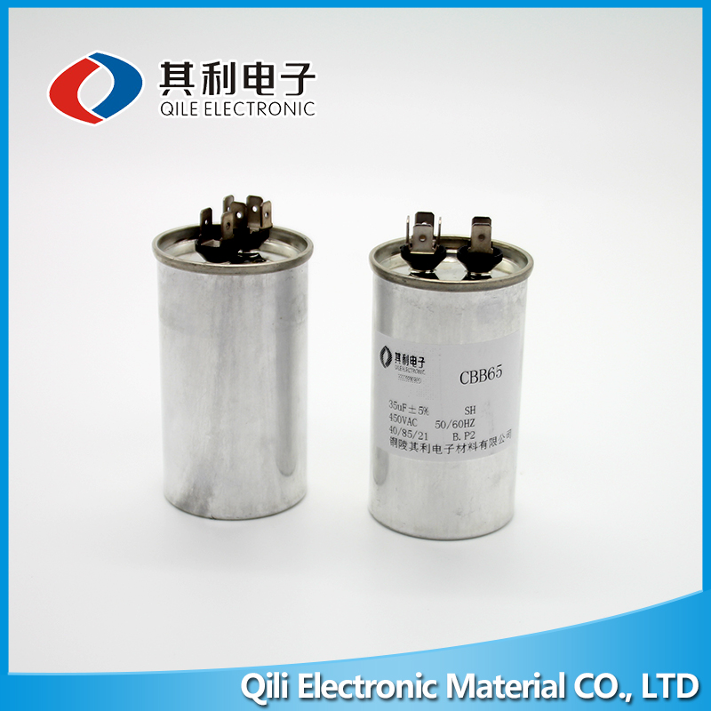 Finely Processed 15UF Cbb65 Capacitor Metallized Polypropylene Capacitor