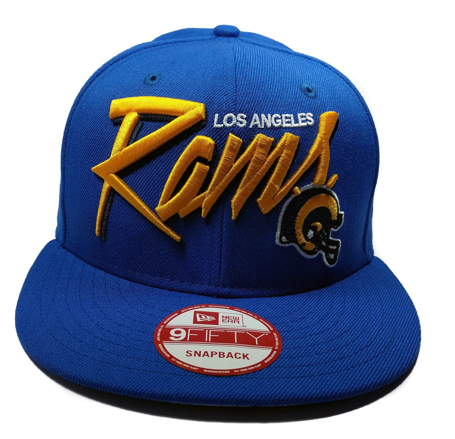 check out ad6ab 2cf47 New Era Los Angeles Rams 9Fifty Blue Vintage Sketch Script Adjustable Snapback  Hat NFL