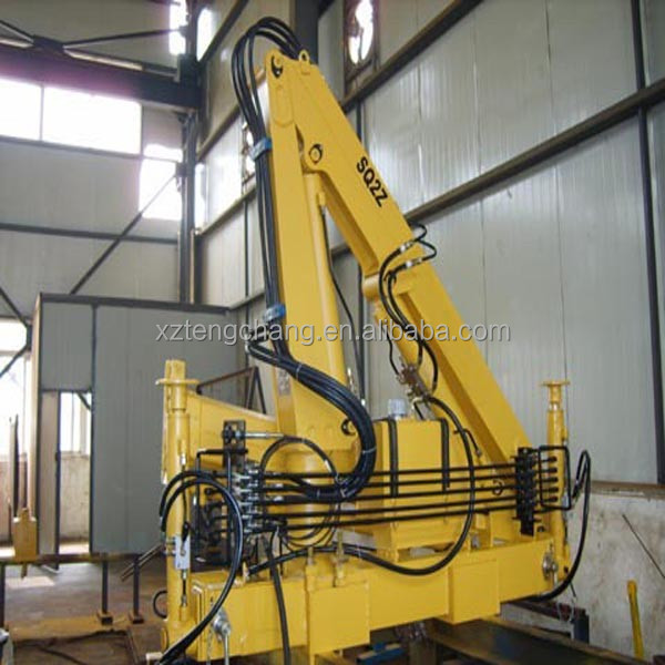 2tons mini hydraulic manual folded arm/knuckle boom pickup railway truck mounted crane