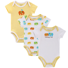 3pcs/lot Baby Boy Girl Clothes Short Sleeve Leopard Print 2015 Summer Baby Romper Newborn Next Jumpsuits & Rompers Baby Product