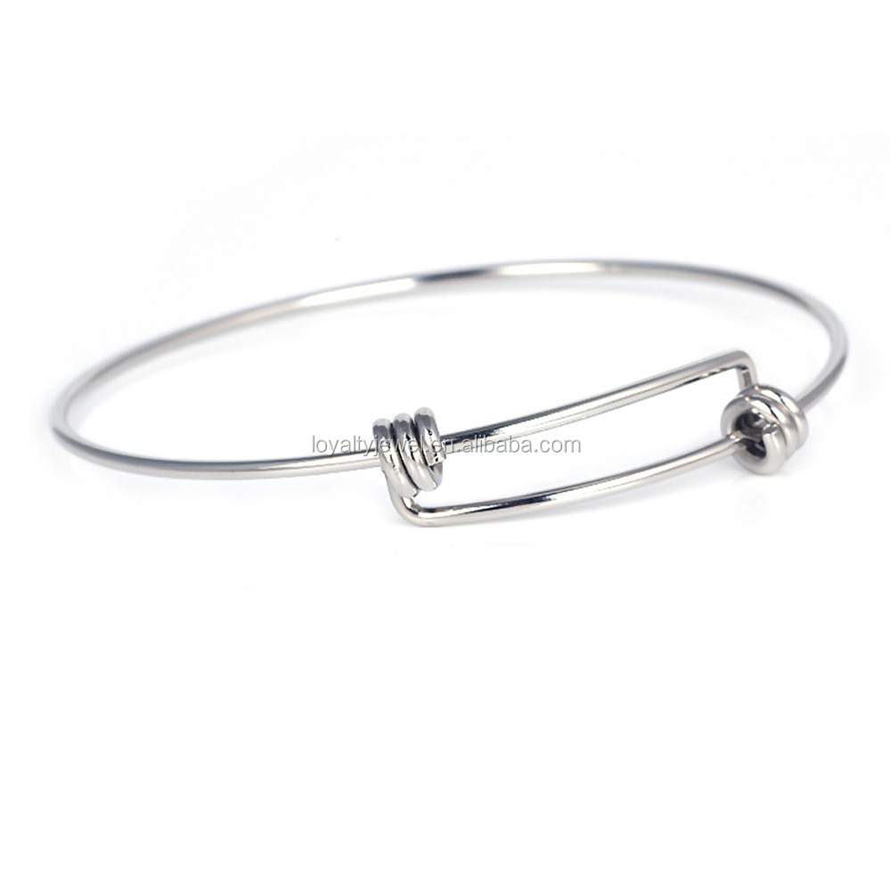Stainless Steel Expandable Wire Bangle Bracelet