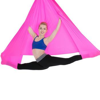 5m Red High-Strength Soft aerial yoga hammock for Fitness Swing
