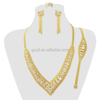 Special Design Nice Deep V Jewelry Set Gold Jewelry For Women