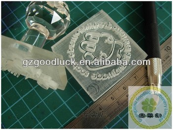 Decorative Clear Acrylic Soap Stamps Handmade Making Molds With LOGO