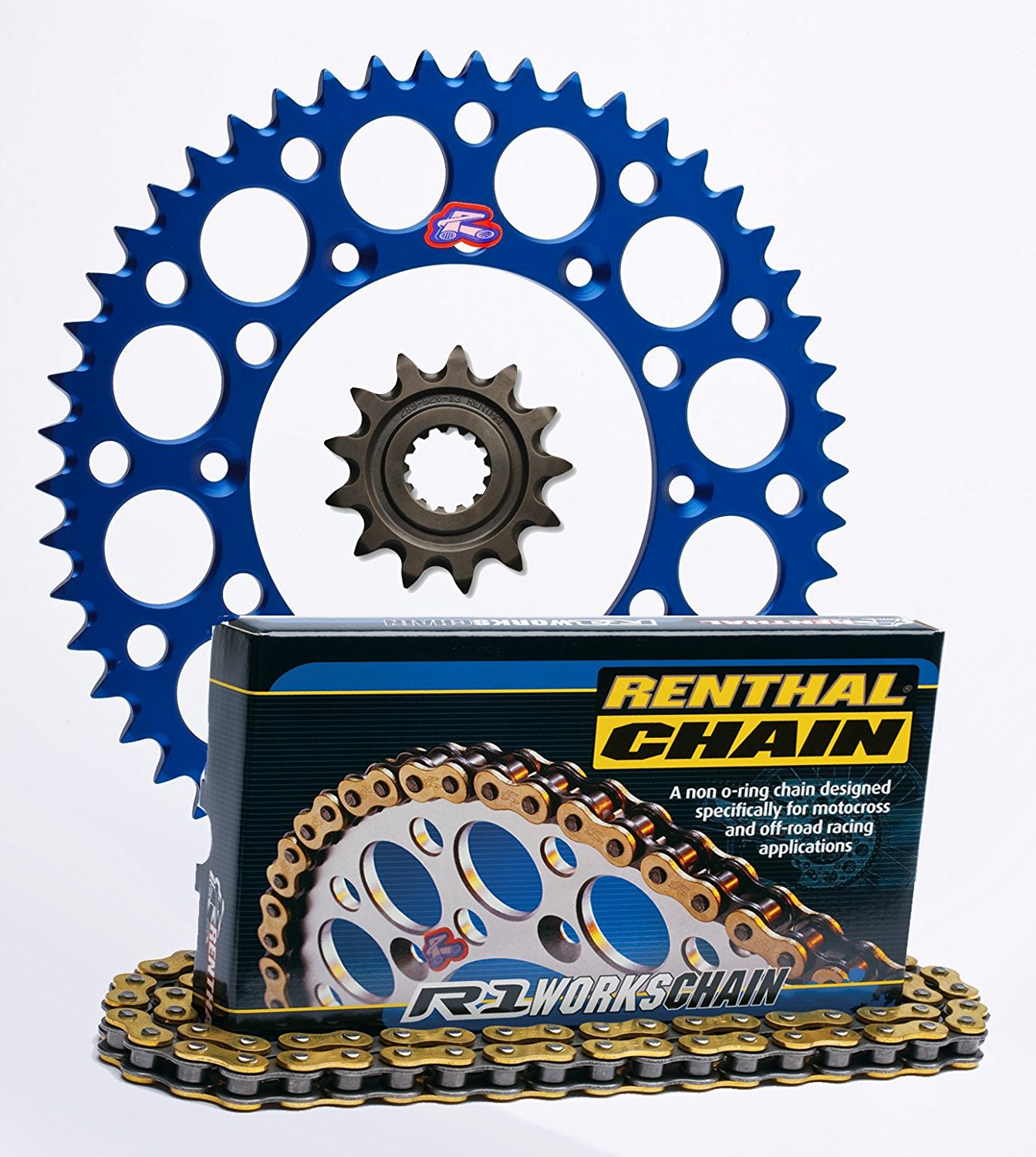 CRF450X Renthal Ultralight Front /& Rear Sprockets /& R1 MX Works Chain Kit 13//49 RED Honda CRF450R