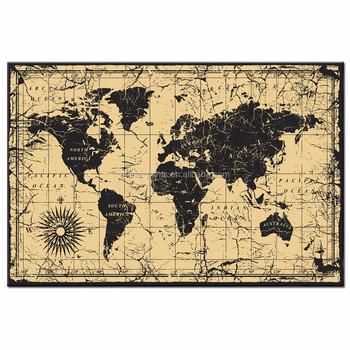 Große Größe Weltkarte Leinwand Wandkunst Für Heimtextilien Abstrakte Karte  Wandkunst ...