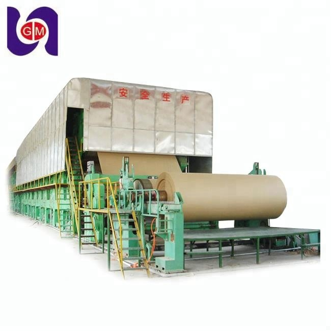 3200mm waste paper recycling machine prices and brown carton kraft paper product making machinery production line