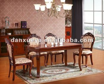 Antique Solid Ash Dining Room Table And Chairs Dxy-902 Dining Table ...
