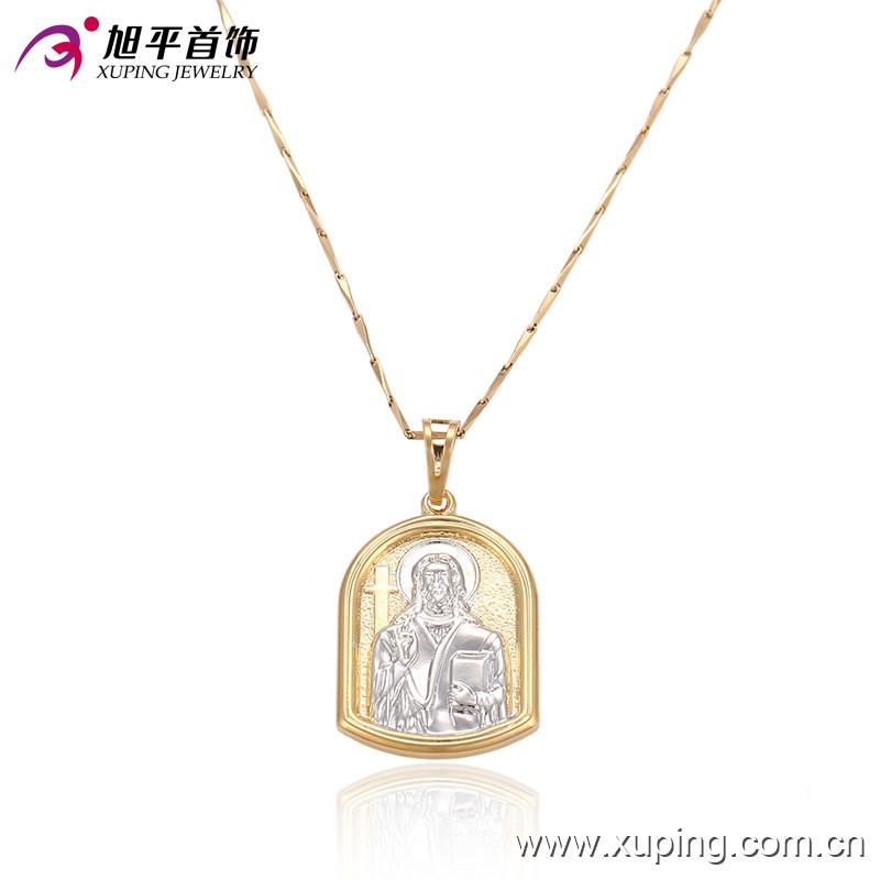 32323 simple big fancy gold plated jesus piece pendant designs for girls