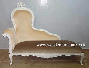 Sofa Bed Vintage Classic Chaise Lounge Chair French Style Antique Reproduction Furniture European