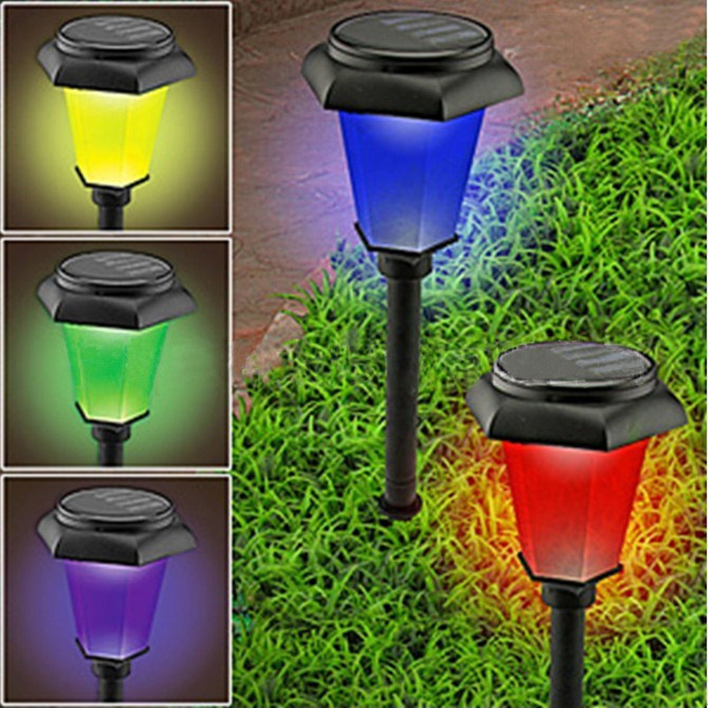 Pc Color Changing Solar Lights Set: New Solar Power Changing Bright Efficient Garden Yard