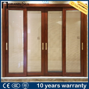 Commercial Used Patio Sliding Screen Door Aluminum Framed Sliding Door Price