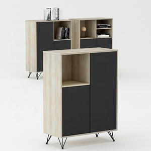Wooden filing office file shelf bookcase cabinet