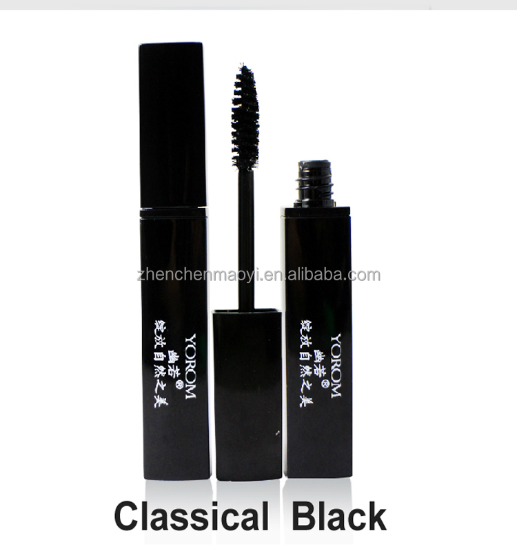High quality waterproof color mascara in plastic tube hair color mascara Black Brown Purple Green Blue