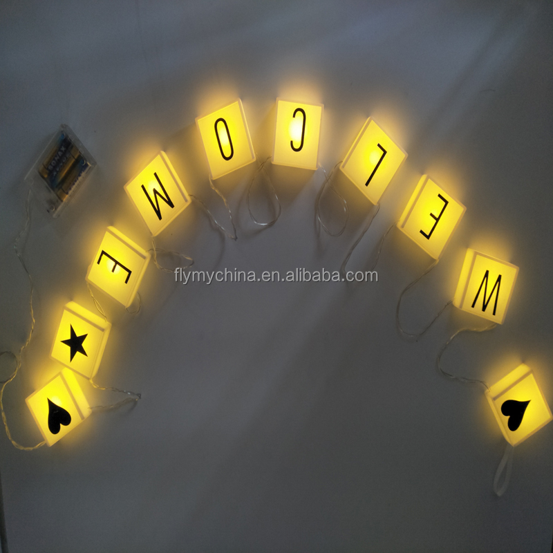 Indoor/outdoor Christmas Decorations English Letters String Banners