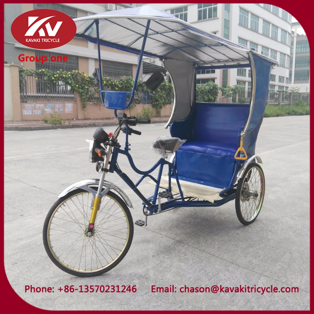 human power pedal three wheel car cabin rickshaw price