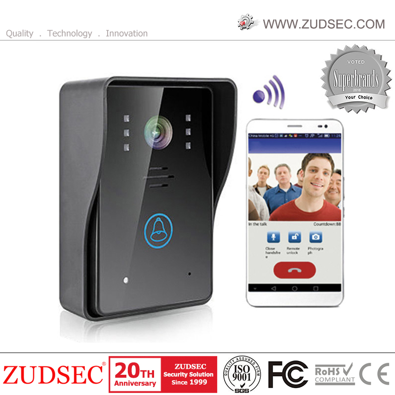 Outdoor Smart WiFi Video Intercom Door Phone with Remote Unlock support ID Card and IOS Android Device