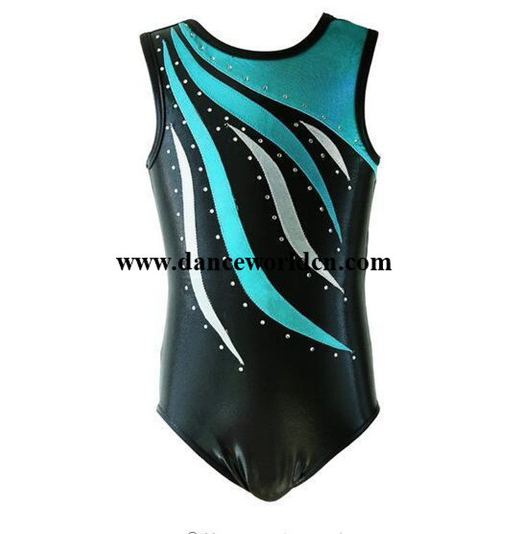 Professional Girls Children Shiny Spandex Dance Leotards Wholesale Gymnastics Leotards