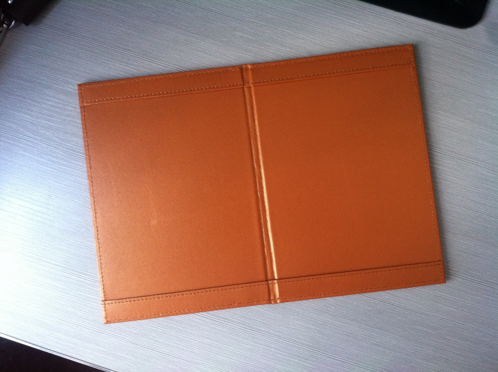 Faux leather cover notebook menuholder covers high quality restaurant menu
