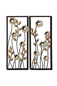 """Deco 79 Metal Wall Deco, 2 Assorted, 14 by 34"""""""