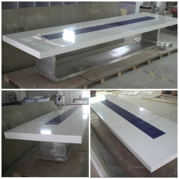 marble stone top with stainless steel base oval conference table