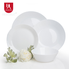 dinner set simplicity collection opal tempered glass