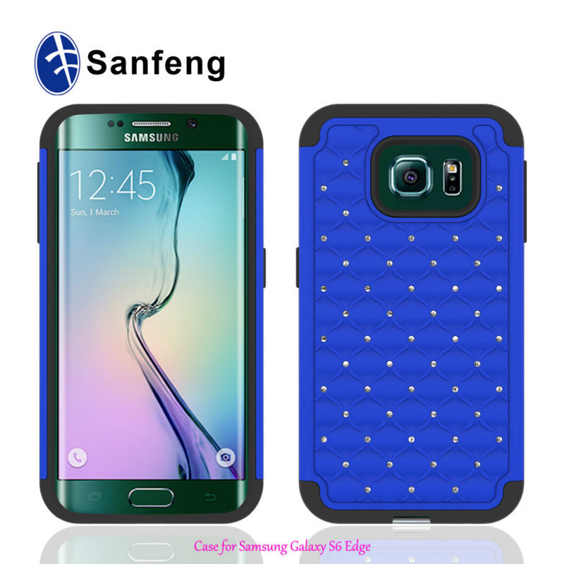 Shiny Crystal Rhinestone Covers Cases For Samsung Galaxy S6 Edge Mobile Phone Cases