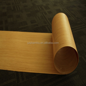 Wholesale Fashion Thin Bamboo Wood Veneer Sheets And Flexible Bamboo Veneer Panel in 0.6 - 2mm Thickness