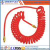 Flexible PU Coiled Garden Water Hose with fittings