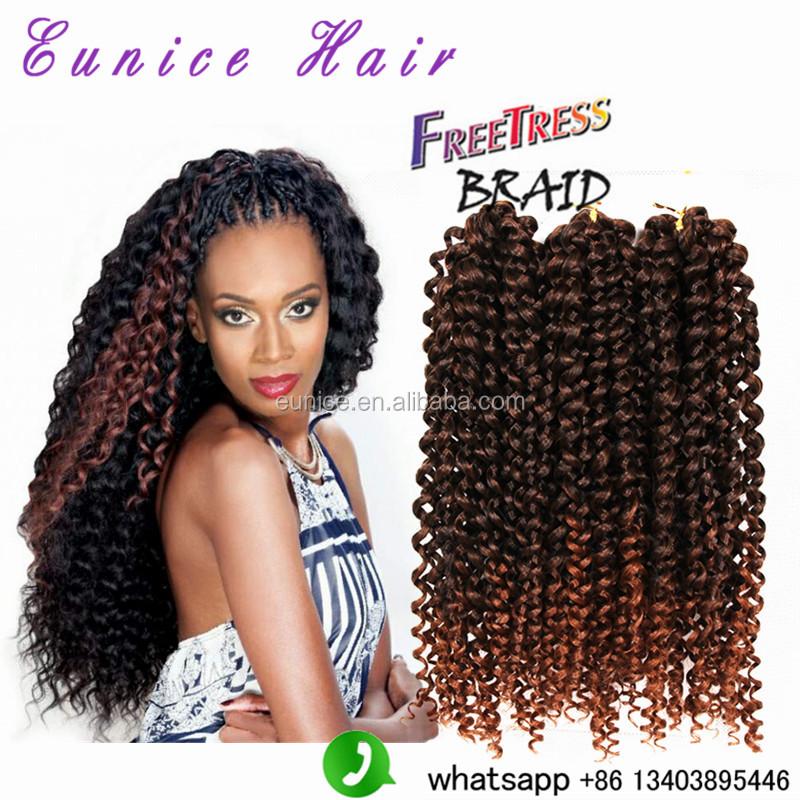 Freetress Crochet Braiding Hair 3x Jerry Curly Twist Crochet Braids