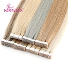 Free Sample K.S WIGS Tape Hair Extensions 100% Human Hair 12 Inch Dark Color Human Cheap Tape Hair Extensions