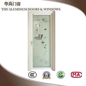 JUNSUN Aluminum Bathroom Doors With Mosaic Multi-Colors Z-088