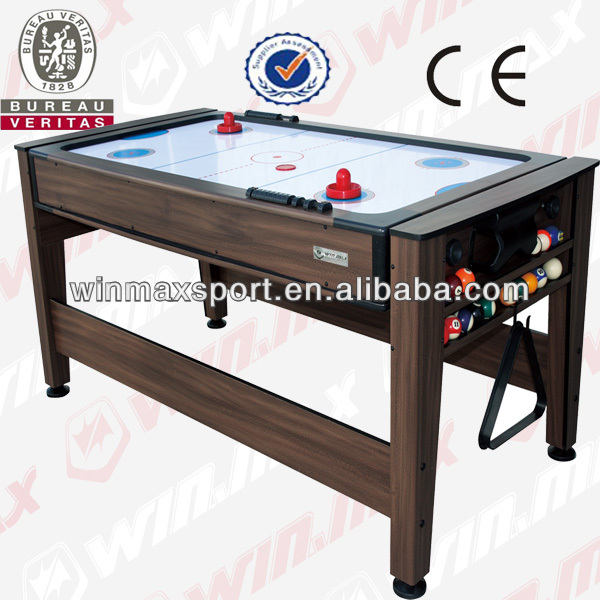 213.5Lx117Wx80H(cm) MDF Switchable Multi Game Billiards/foosball Table soccer table