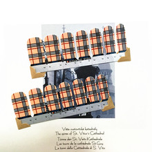 khaki Black Lstripe Nail Arts Nail Sticker Waterproof Nail Decal Sticker Gel Polish French Manicure Patch