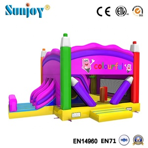 indoor and outdoor backyard blow up playground games color pens combo bouncer kids inflatable commercial bounce house clearance