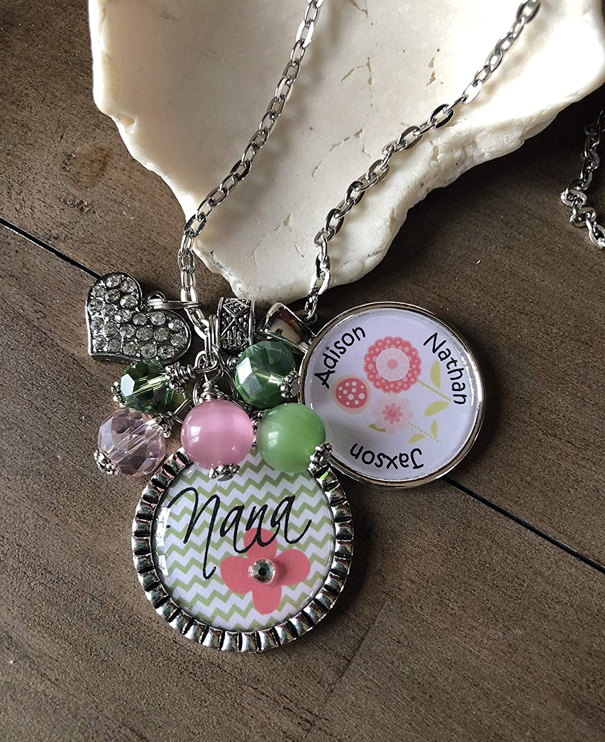 3309411d3 Get Quotations · Mother Day's Gift Custom Necklace for Nana Grandma Mom Gift  for Mom Personalized Nana Necklace Kids