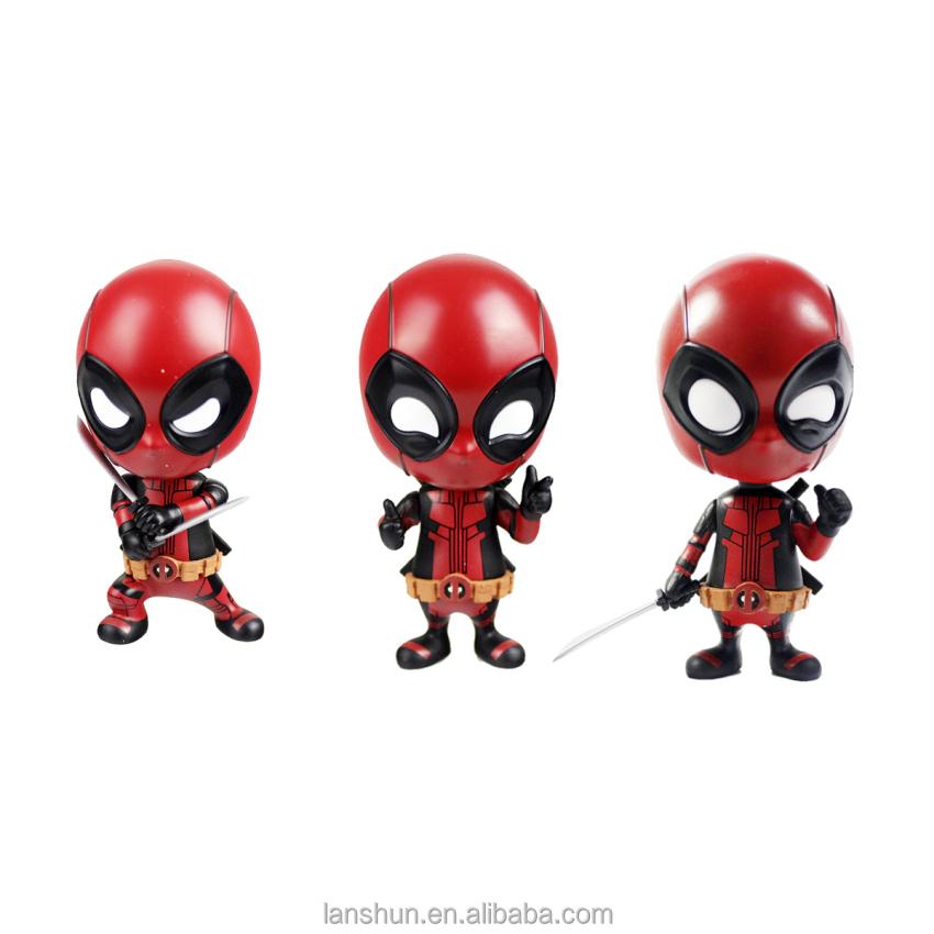 3pcs Marvel Deadpool Cosbaby Bobble-head Hot Toys Figure 4