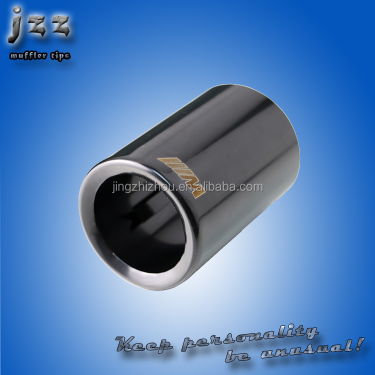 technology of burning black stainless steel cars exhaust muffler tips pipe for wv jetta