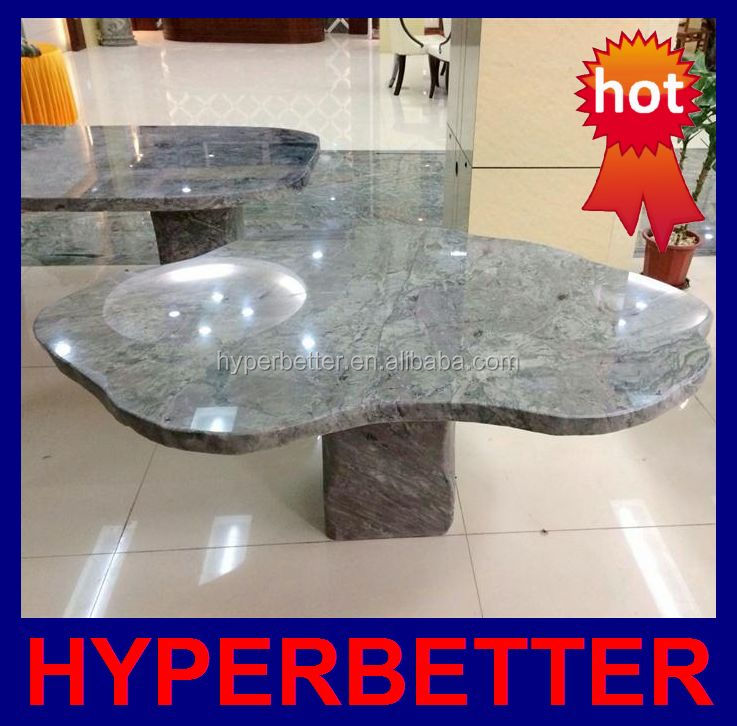 Wholesale natural shape green onyx table top