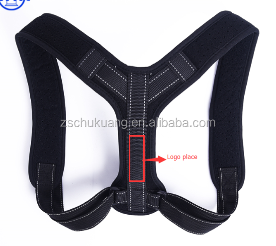 Adjustable unisex shoulder support brace back posture corrector posture brace, Black