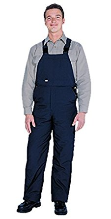 TOPPS SAFETY BO11-5605-Tall/50-52 BO11-5605 NOMEX Unlined Bib Front Overall, 6 oz., 3X-Large Tall, Size 50-52, Navy Blue
